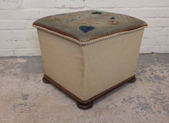 Victorian Upholstered Box Stool