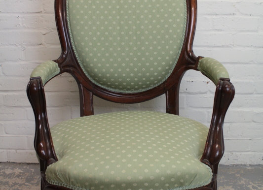Continental Style Spoon Back Open Armchair