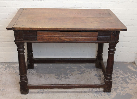 George III Style Oak Console Table