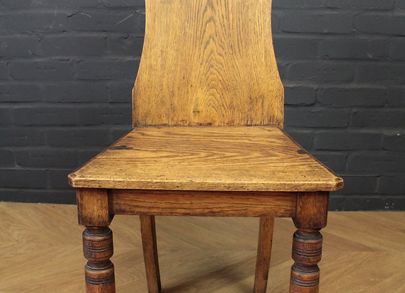 Victorian Walnut Shield Back Hall Chair