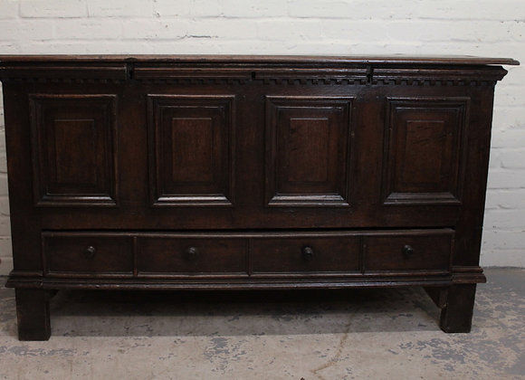 Early C18th Large Oak Mule Chest