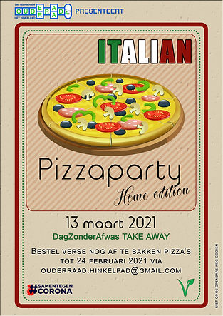 Italian pizzaparty buiten de school 20-2