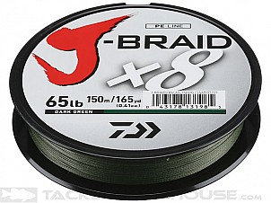 J Braid by Diawa 15#, 20#, 30# 330 Yards