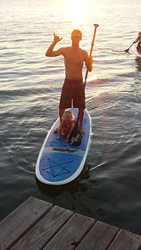 Paddle boarding Galveston Bay