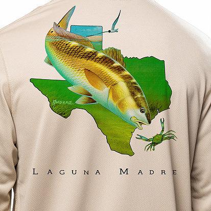 Laguna Madre Texas Red LS Shirt