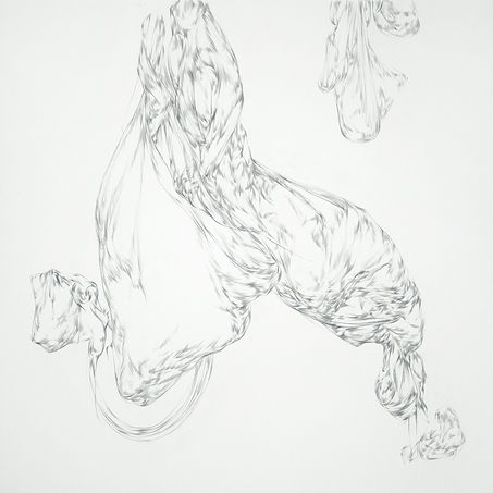 Lullaby, 100x100 cm, pencil on paper