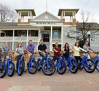 Team electric bike tour at chautauqua