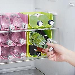 2 Slots Kitchen Refrigerator Organizer  Wine Bottle Storage