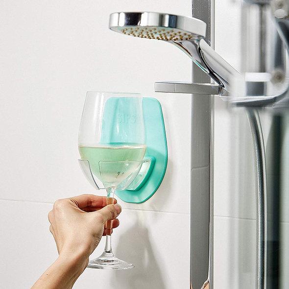 Plastic Wine Glass Holder for the Bath Shower
