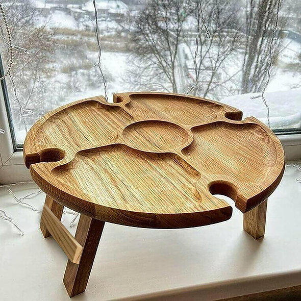 New Camping Table Outdoor Wine Rack