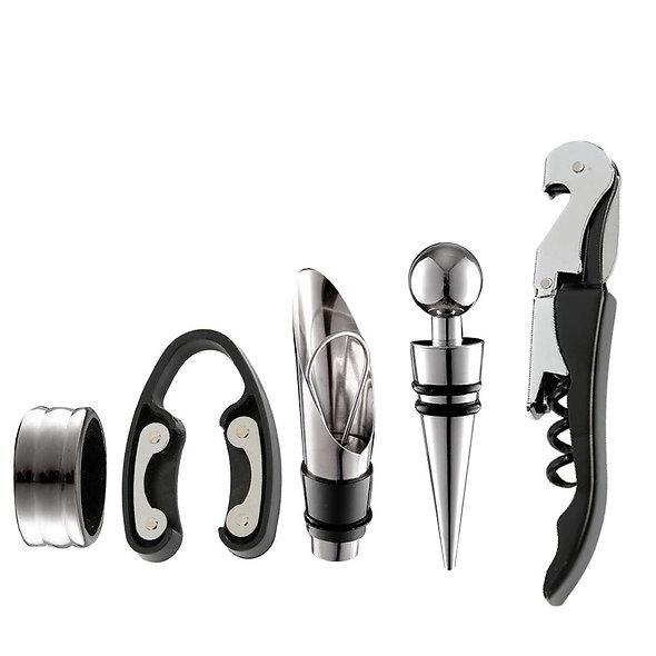 5pcs/Set Stainless Steel Wine Opener Kit