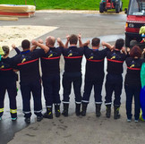 Equipe des JSP des Franches-Montagnes avec des polos brodés