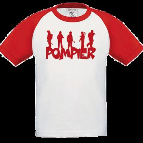 T-shirt Baseball Pompier