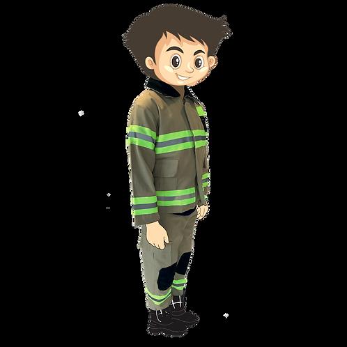 Costume pompier enfant