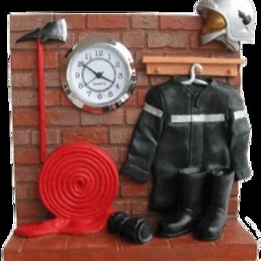 Horloge vestiaire pompier