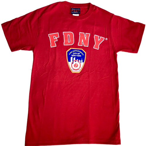 T-shirt adulte FDNY Rouge