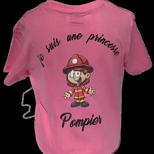T-shirt enfants Princesse Pompier