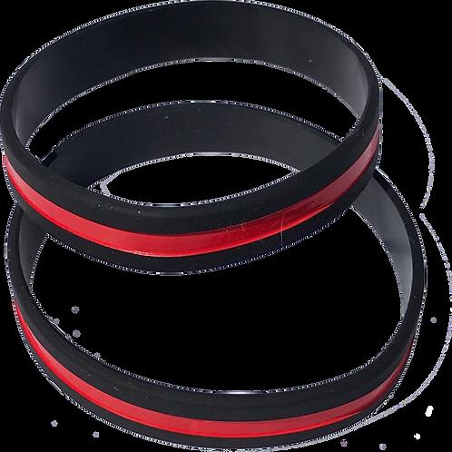Bracelet PVC Thin-Red-Line