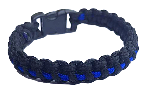 Bracelet paracord Thin-blue-line