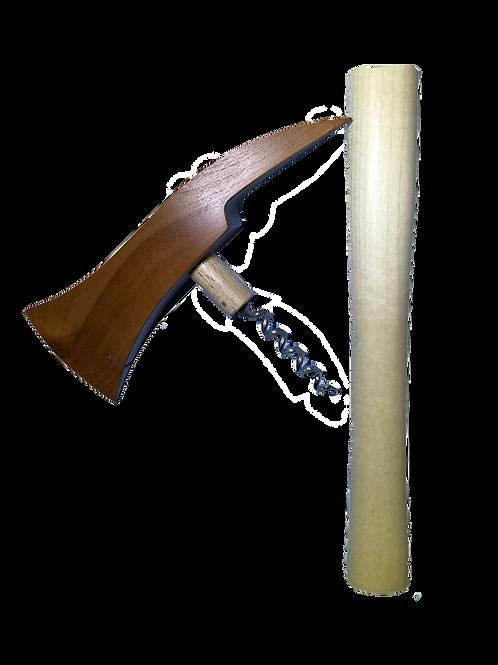 Hache en bois, lame longue