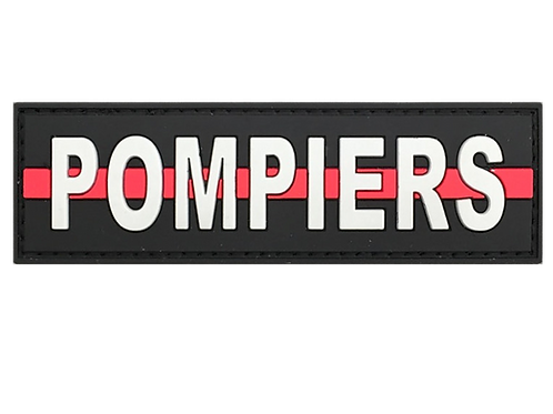 """Badge """"POMPIERS"""" Thin-Red-Line"""