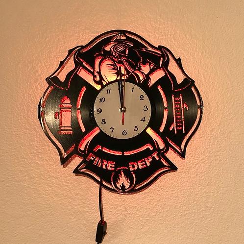 Horloge murale pompier