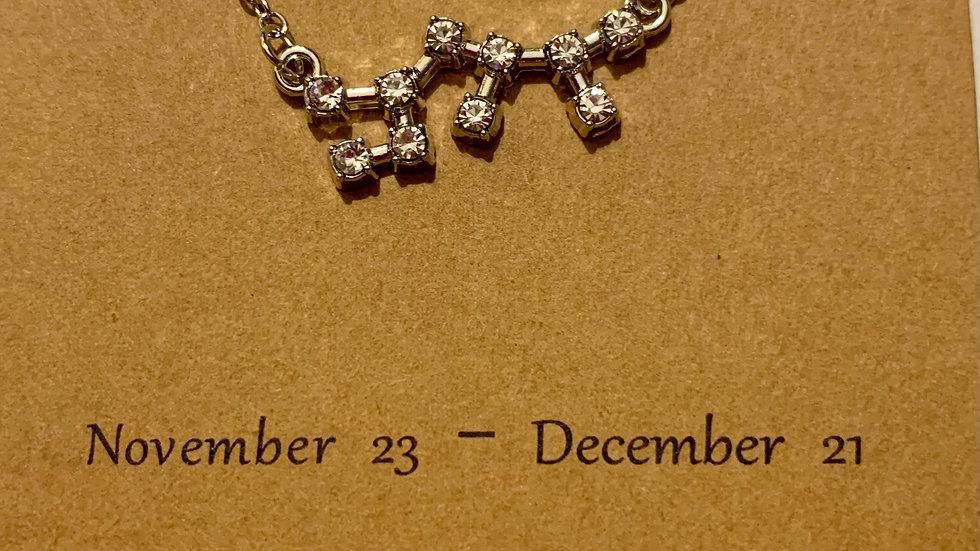 Zodiac necklace (silver tone)
