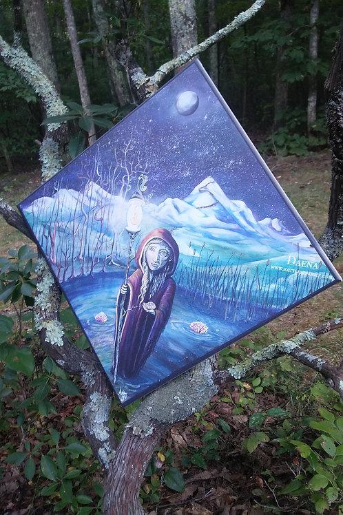 Daena Bears a Light, 14x14 canvas printed giclee