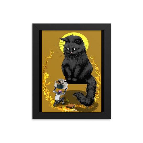Sacrifice in gold - Enhanced Matte Paper Framed Poster (in)
