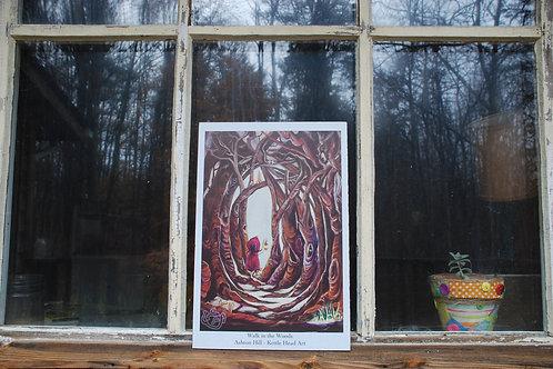Walk in the Woods - hardboard print