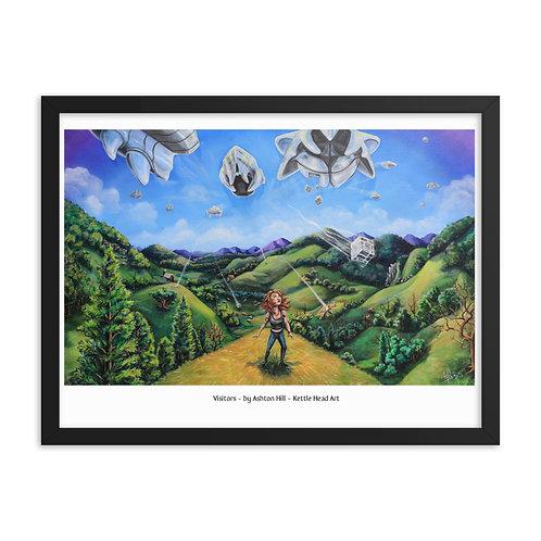 Visitors - Framed poster