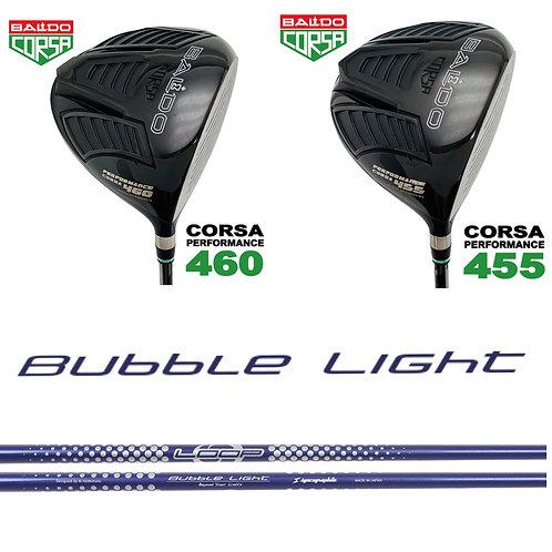 ① BALDO CORSA 460DR②BALDO CORSA 455DR (選べるヘッド)/ LOOP Bubble Light