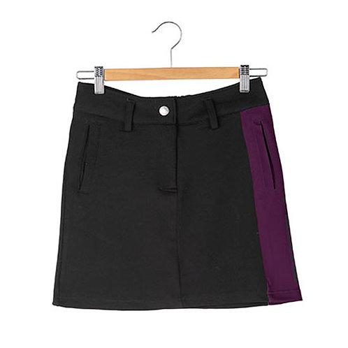 サイドラインロゴ スカート ブラック レディース (ファイブスター)