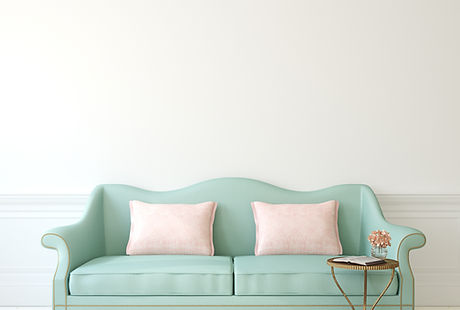 Blaues Sofa
