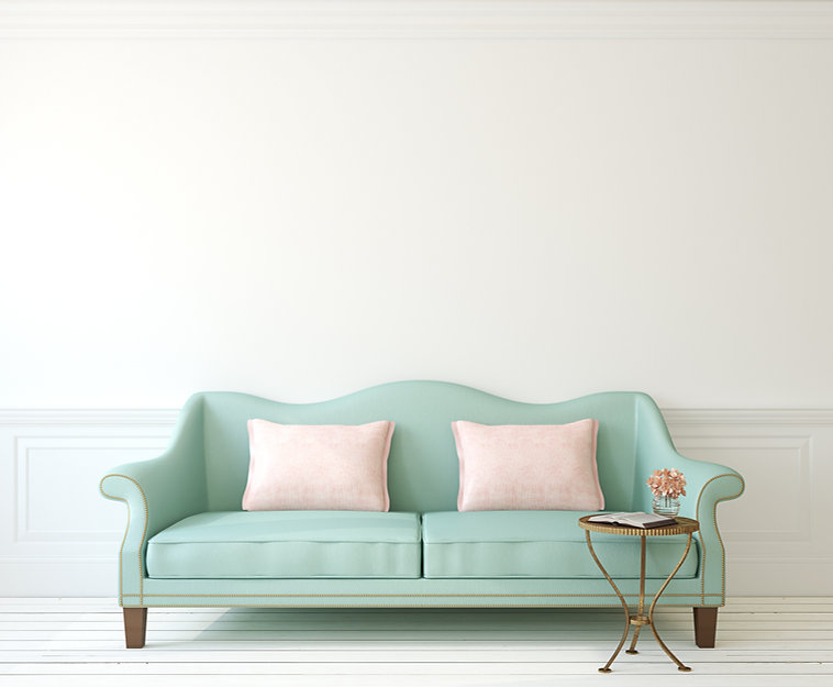 Sea green couch