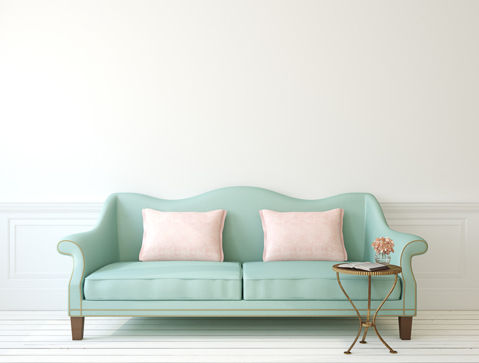 Blue Sofa Vintage Style