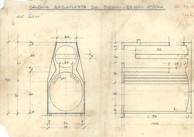 Disegno tecnico Saltarini dell'epoca