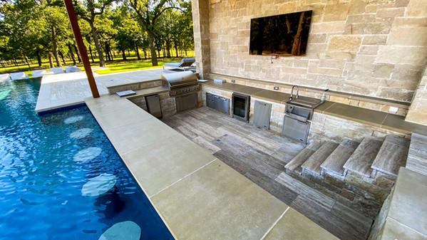 Colleyville Sunken Kitchen & Swim Up Bar