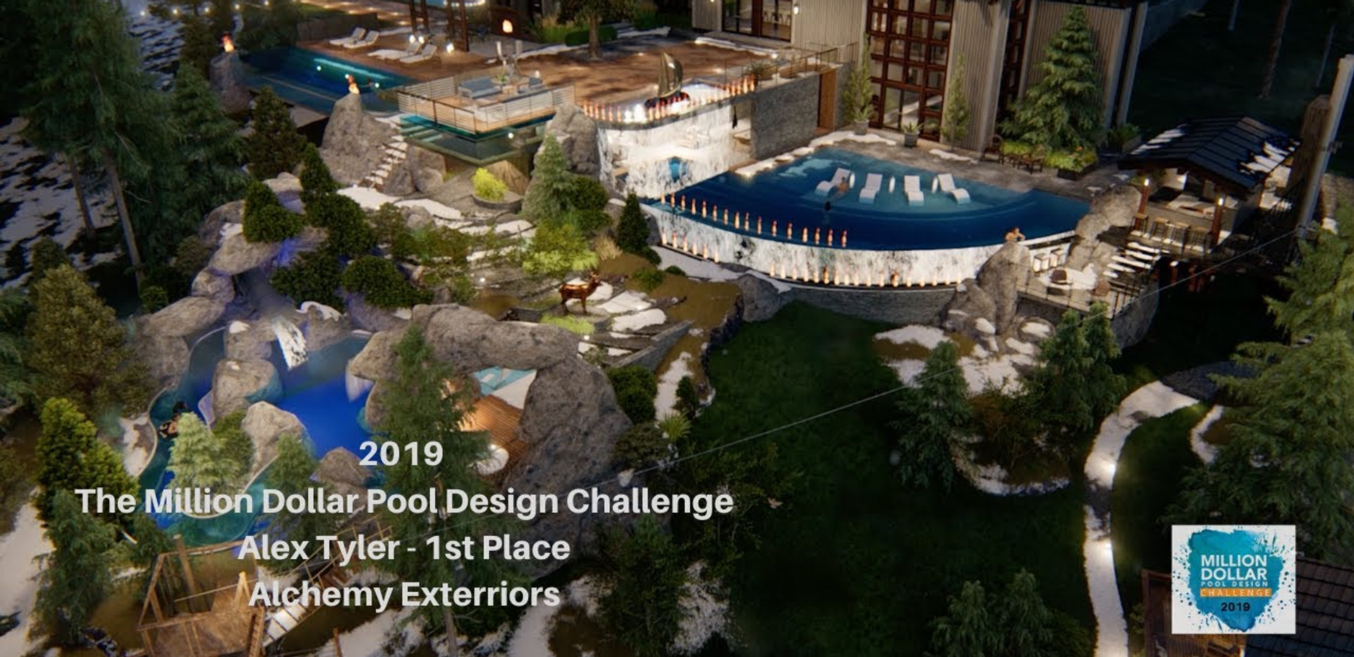 Alex Tyler Wins the 2019 Million Dollar Pool Design Challenge!