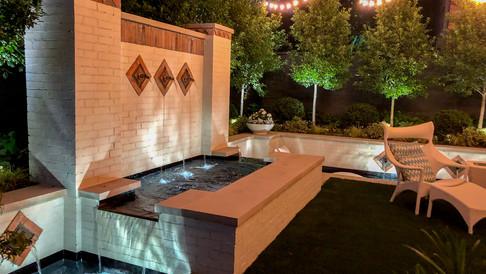 Dallas Fountain at Night