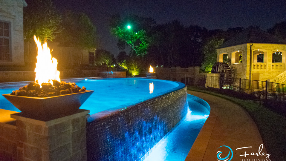Infinity Edge with Fire Bowls