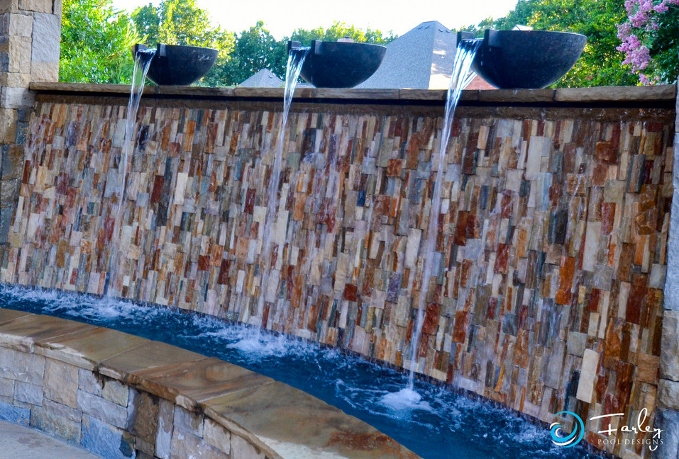 Water Wall with Water Bowls
