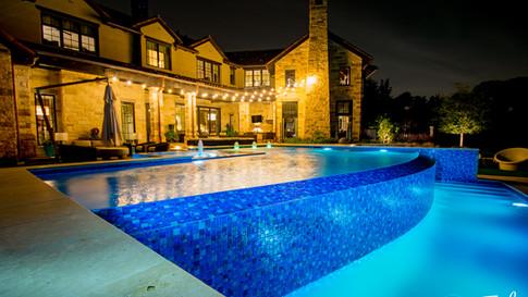 Infinity Pool with perimeter overflow spa