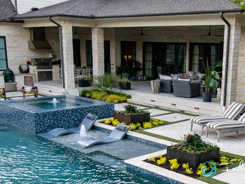 Dallas Modern Hillside Pool Project
