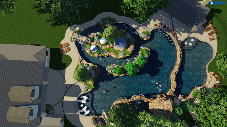 Encosed Lazy River Top View