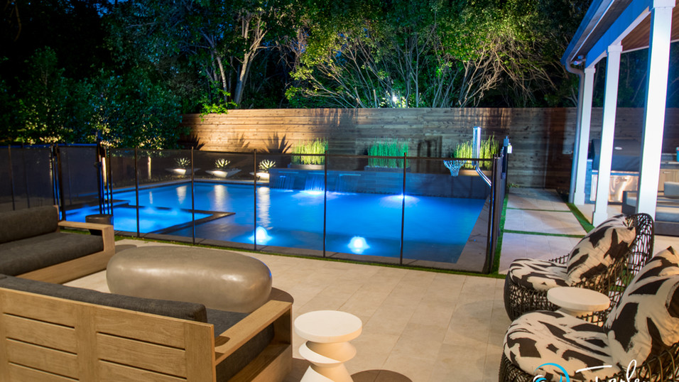 Modern Pool with Safety Fence