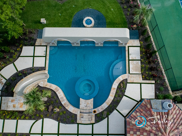 Fort Worth Pool with Dolphin Slide