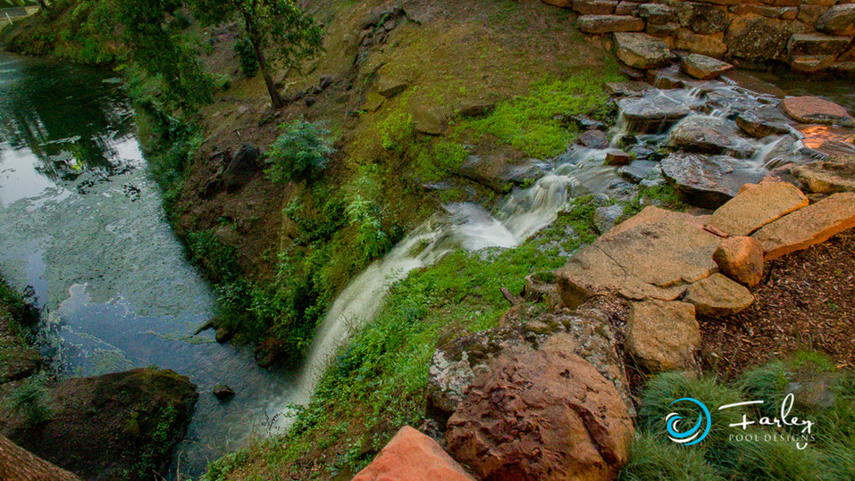 Stream bed  Water Fall to Pond