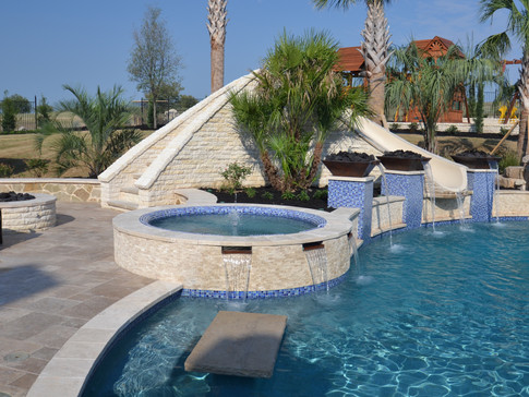 Raised Spa with Scuppers