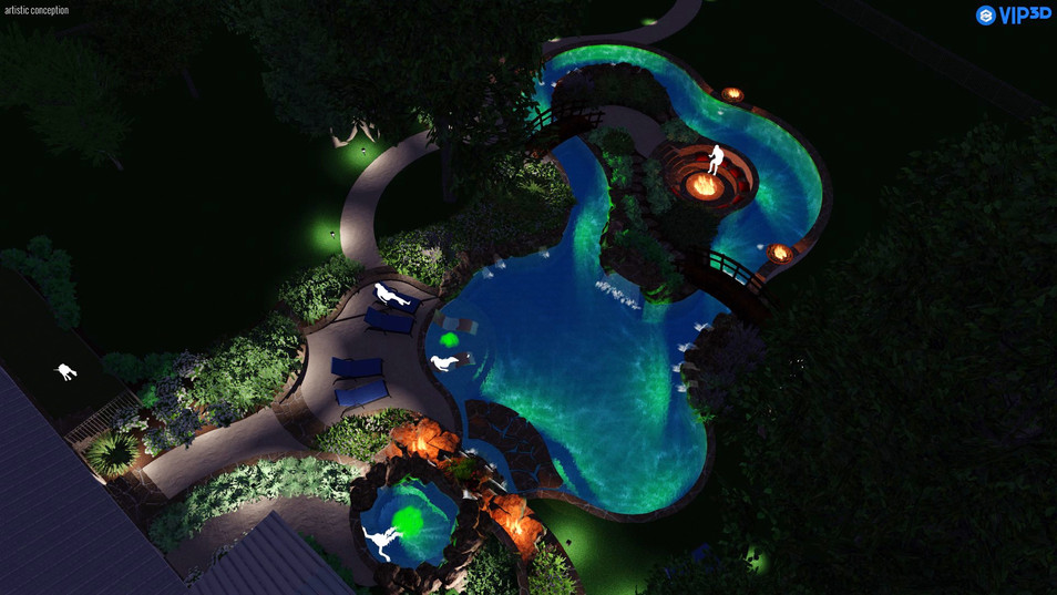 Hilside Lazy River Top View